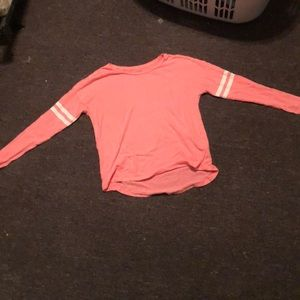 Long Sleeve pink campus t shirt